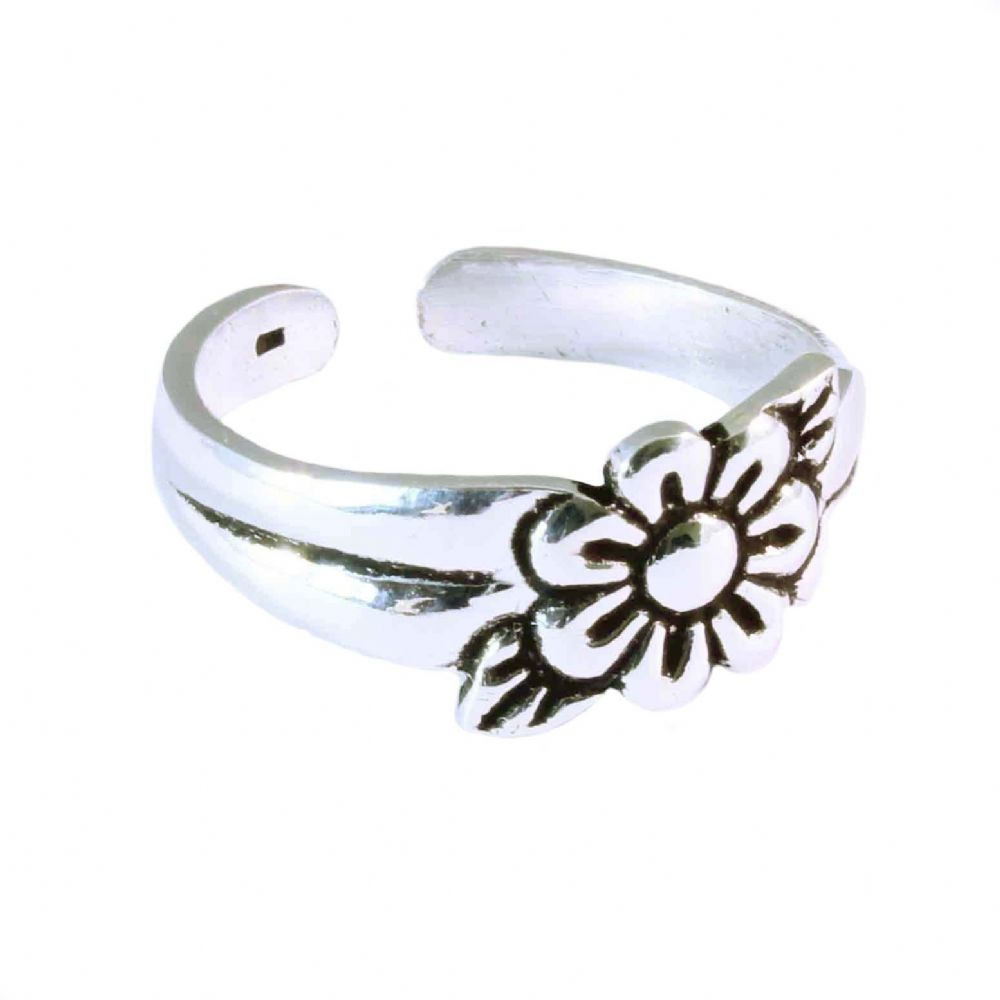 charm school uk gt sterling silver toe rings gt flower